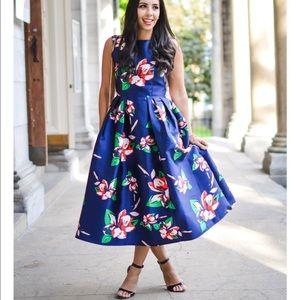 Blue Chicwish Garden Party Dress